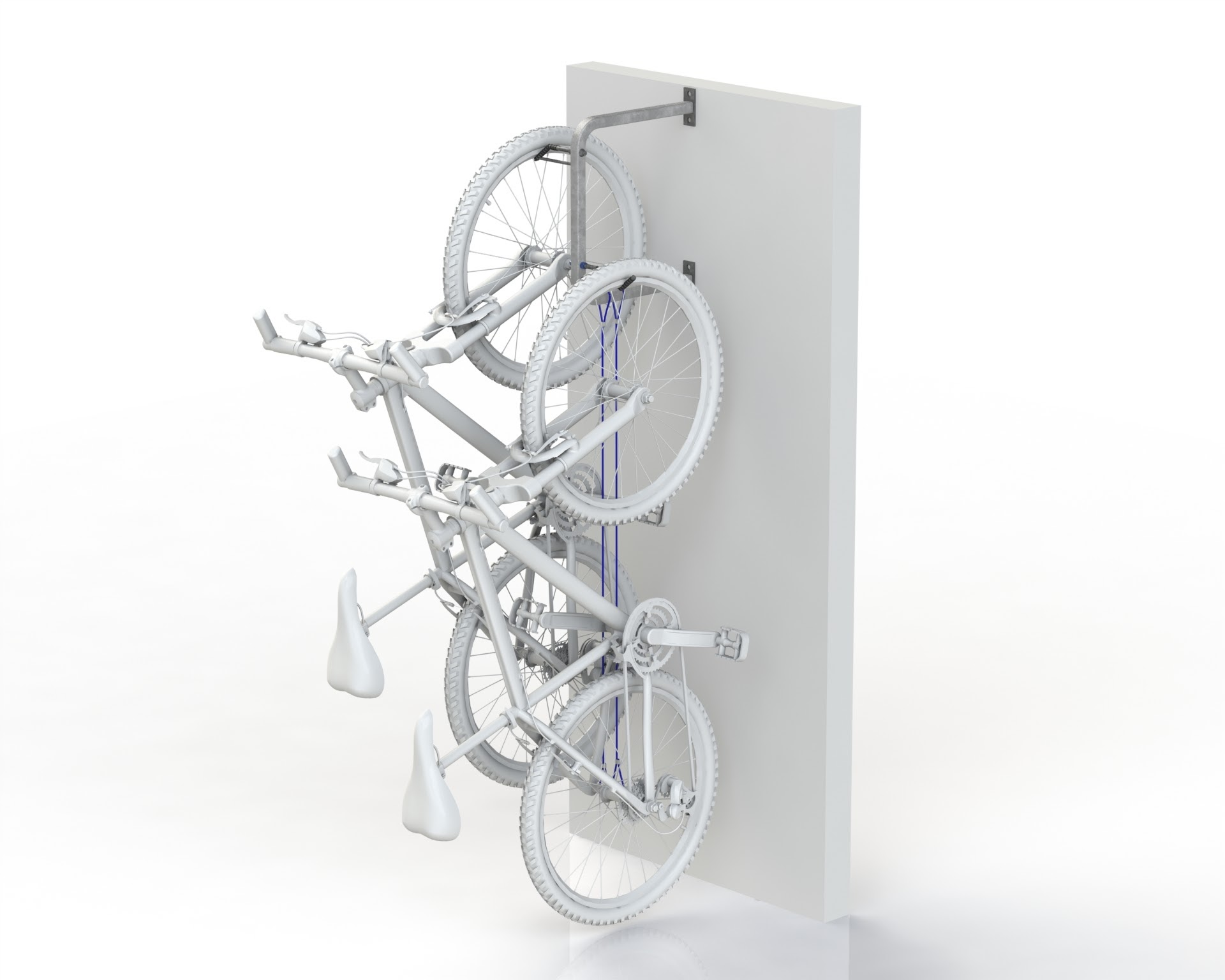 Wall Mount Hanging 2 Bike Rail