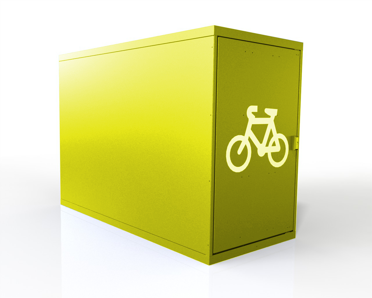 Horizontal Single 1 Bike Locker