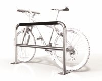 Large 2 Bike Rail with Security Bar