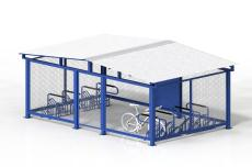 Horizontal Storage 16 Bike Cage